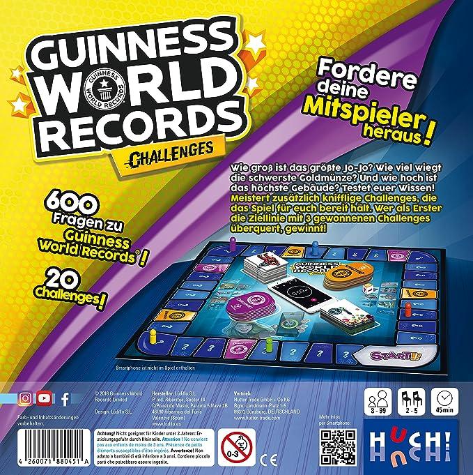 HUCH!- Guinness World Records Challenges, Color carbón (880451): Amazon.es: Juguetes y juegos