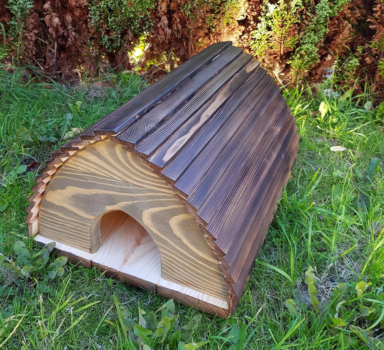 Can Also Be Used For Hibernation Home CKB LTD/® Hedgehog House Outdoor Garden Outside Habitat House Wooden