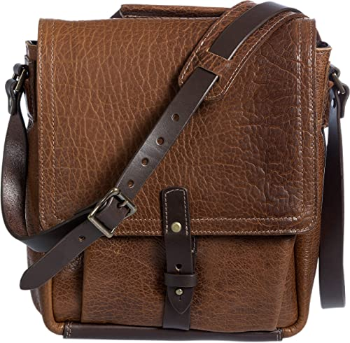 Legacy American Bison Leather Messenger Bag