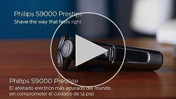 Philips Serie 9000 Prestige SP9863/14 - Afeitadora eléctrica para hombre con bandeja de carga Qi, sensor de densidad de barba, 3 modos, seco/húmedo, con perfilador de barba y funda premium, gris: Amazon.es: