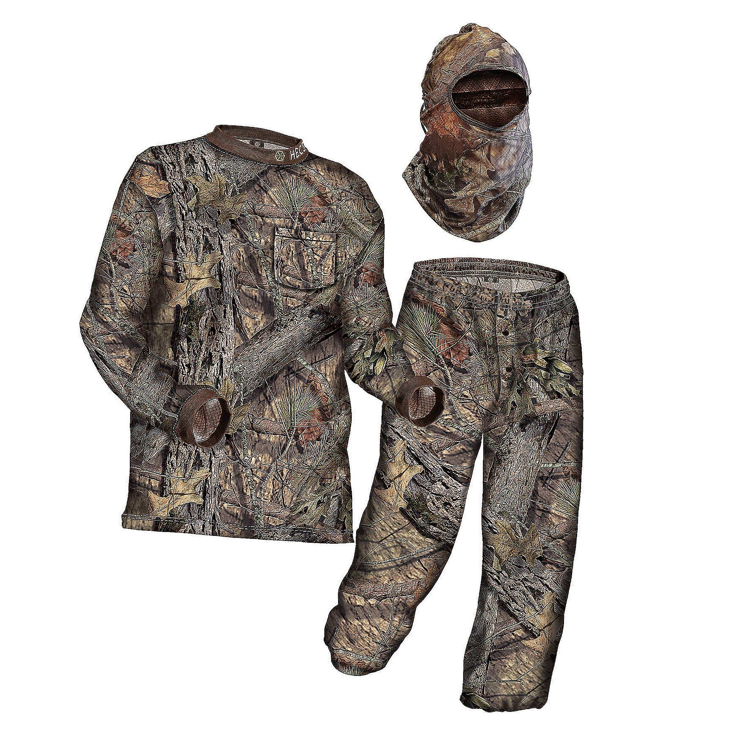 HECS Suit Deer Hunting Clothing with Human Energy Concealment Technology - Camo 3 Piece Shirt, Pants, Headcover - Lightweight Breathable in Mossy Oak Country & Realtree Xtra | Realtree, Medium by HECS