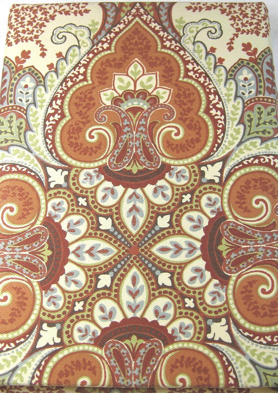Tahari Home Set of 4 Dinner Napkins Baroque Medallions Mult Color on Cream - 20