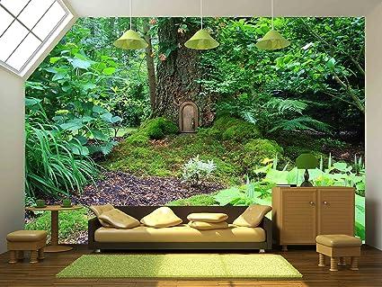 Amazoncom wall26 Little Fairy Tale Door in a Tree Trunk