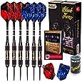 Ignat Games Steel Tip Darts - Professional Darts Set with Aluminum Shafts and Different Style Flights + Dart Sharpener + Innovative Case