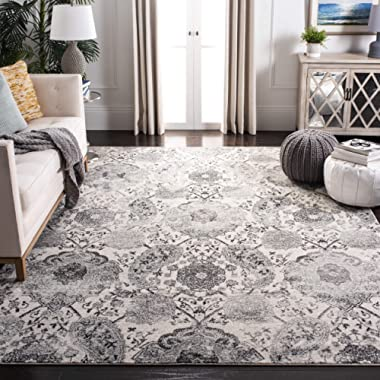 Safavieh MAD600D-6 Madison Collection MAD600D Cream and Silver (6'7  x 9'2 ) Area Rug