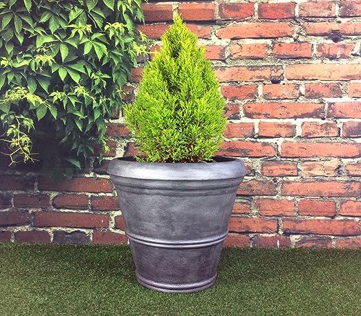 Pack de 2 macetas grandes de jardín, diámetro de 55 cm, altura de 49 cm: Amazon.es: Hogar
