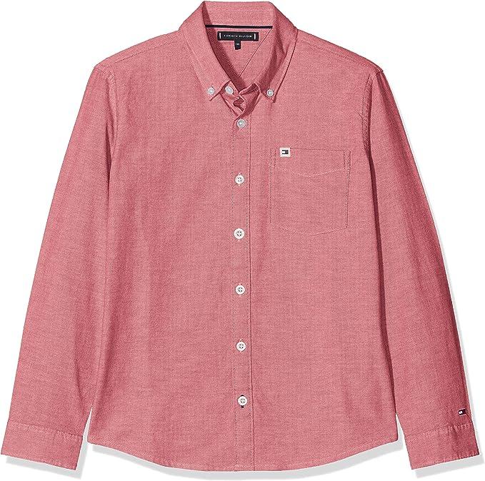 Tommy Hilfiger Solid Oxford Shirt Blusa para Niños: Amazon.es: Ropa y accesorios