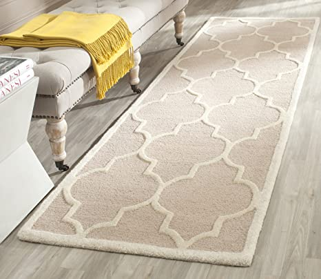Safavieh Cambridge Collection Cam134j Handmade Beige And Ivory Wool Area Rug 2 Feet By 3 Feet Amazon Ca Home Kitchen