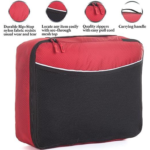 162 opinioni per 4Pz Bago Cubi Di Imballaggio- Set per Viaggi (2Green+2Red)+ 6Pz Sacchetti