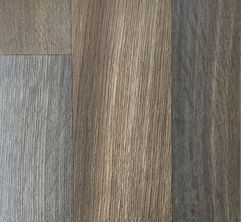 PVC Vinyl-Bodenbelag in gekalkter Holzoptik Eiche rutschhemmend PVC-Belag verf/ügbar in der Breite 4 m /& in der L/änge 3,0 m CV-Boden wird in ben/ötigter Gr/ö/ße als Meterware geliefert