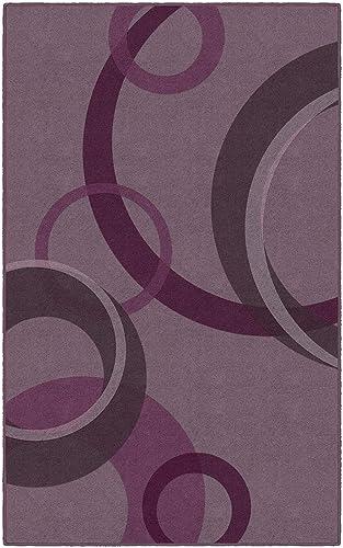 Brumlow Mills Darien Circles Magenta Contemporary Geometric Area Rug 5 x 8 ,