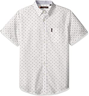 Ben Sherman Mens Ls Diamond Geo PRNT Shirt