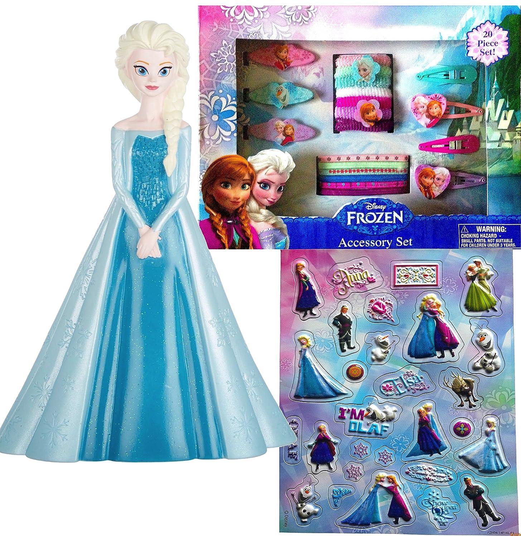 Disney Frozen Elsa Coin BankプリンセスIce Queen HolidayギフトセットIncludes 20pcアクセサリーセットとキュートDisney Frozenステッカー   B00QEQ8C1I