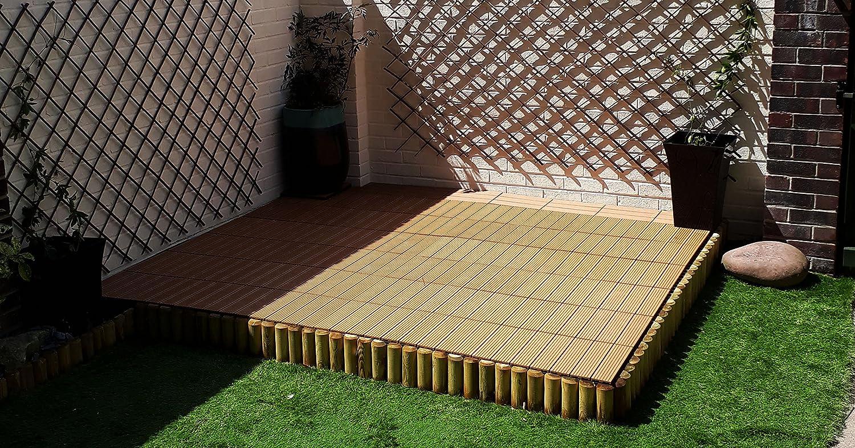 Piastrelle a incastro per pavimenti in legno composito teak