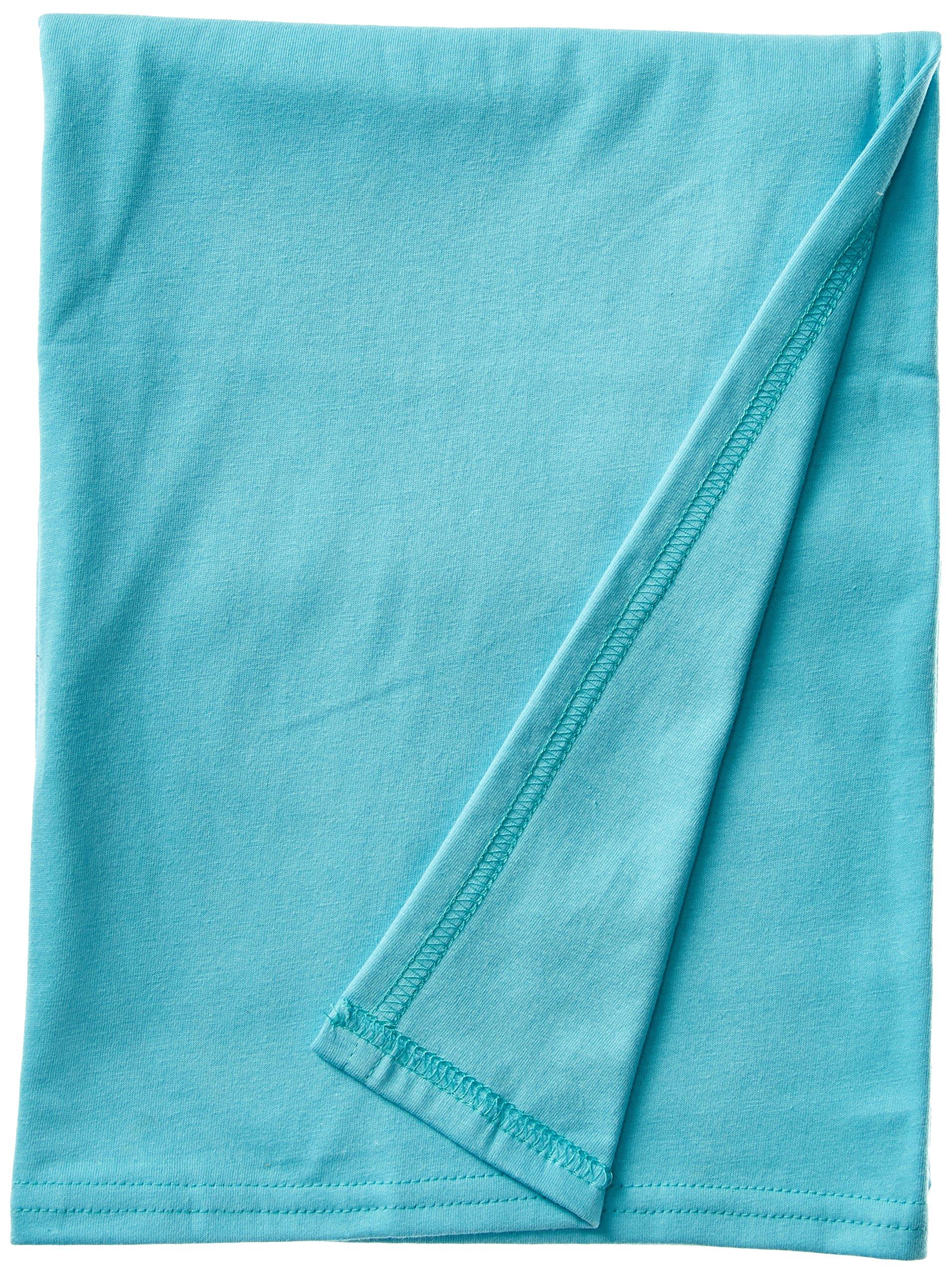 SheetWorld Soft & Stretchy Swaddle Blanket - Aqua - Made In USA