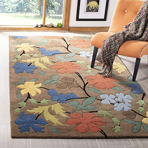 Safavieh Soho Collection Handmade Brown and Multi Premium Wool Area Rug 9'6″ x 13'6″