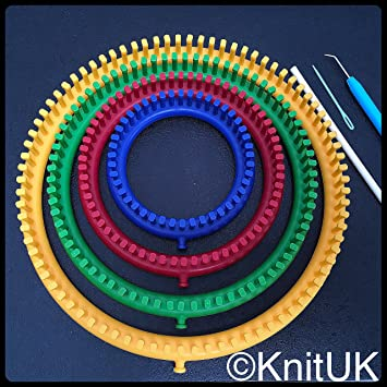 Knituk Round Knitting Loom Set Of 4 Looms With Pegs All Fitted