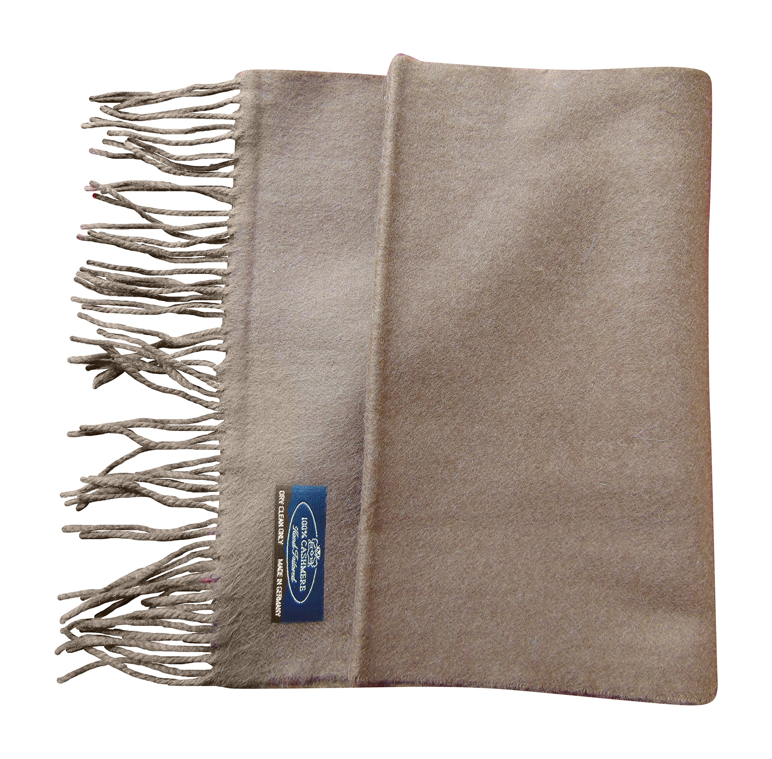 Annys Super Soft 100% Cashmere Scarf 12 X 72 with Gift Bag (Coffee)