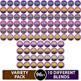 96 Count Variety (10 Amazing Blends), Single-serve Cups for Keurig K-cup Brewers - Premium Roasted Coffee (Variety, 96 Compatible with 2.0)