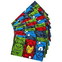 Toalha de Lancheira Infantil, Lepper, 95% Algodão 5% Poliéster, Azul, 24 cmx42 cm, Avengers, pacote de 12