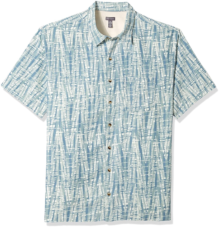 a586b06a Van Heusen Men's Big and Tall Oasis Printed Short Sleeve Shirt at Amazon  Men's Clothing store: