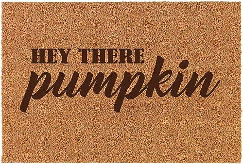 Fall Autumn Home Coir Entry Front Doormat Hey There Pumpkin Mat