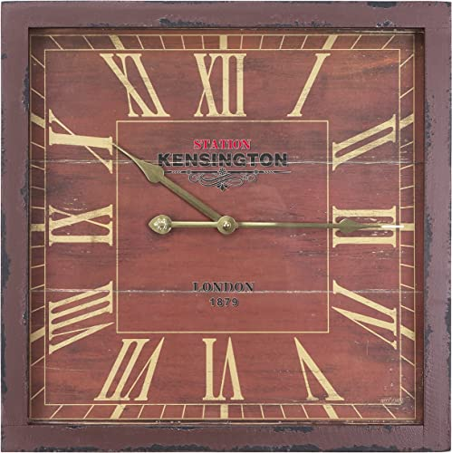 Yosemite Home Decor Square Wooden Wall Clock, Multi