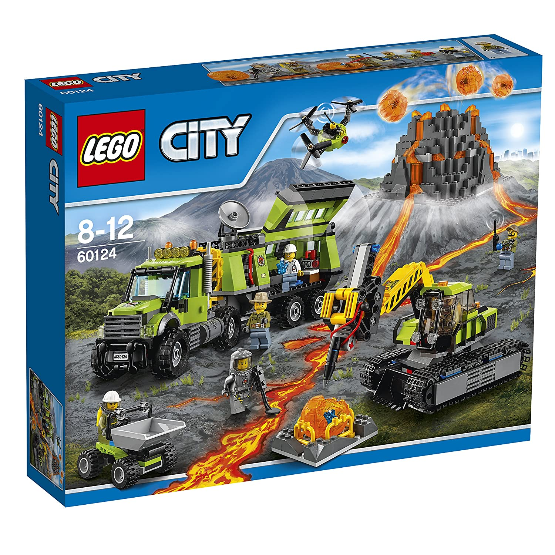LEGO City 60124 - Vulkan-Forscherstation, Bauset, Bauspielzeug