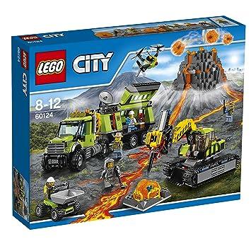 Lego City Volcan Base De Exploracion 60124 Amazon Es Juguetes
