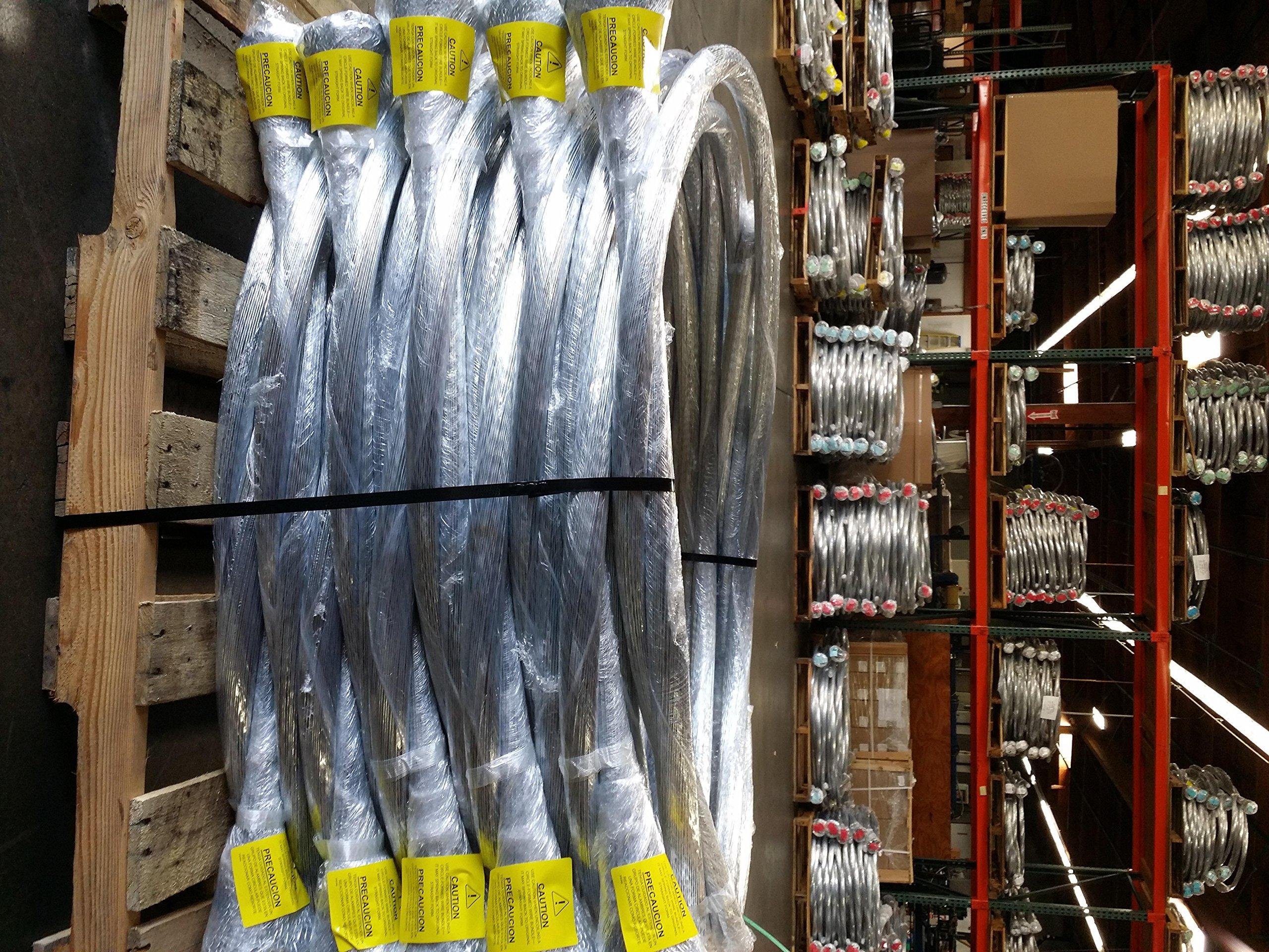 3 bundles - 14 gauge x 14 ft galvanized bale tie wire (250 strands/bundle) by Wire & Packaging