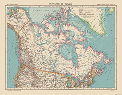 Full Map Of Canada.Amazon Com Maps Of The Past International Map Canada Schrader