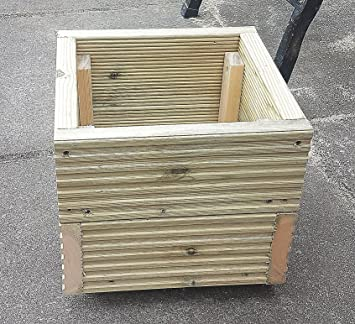 Square Deck Planter Box 290mm Handmade Wooden Planter Boxes Pressure