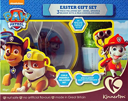 Paw patrol chocolate easter egg gift breakfast set bowl cup and paw patrol chocolate easter egg gift breakfast set bowl cup and spoon negle Image collections