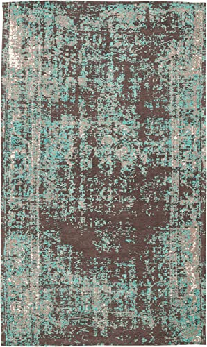 Safavieh Classic Vintage Collection CLV225A Teal and Brown Area Rug 5 x 8