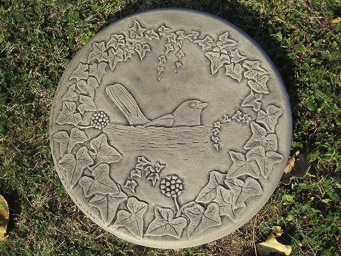 P Blackbird P Blackbird Stepping stone garden ornament