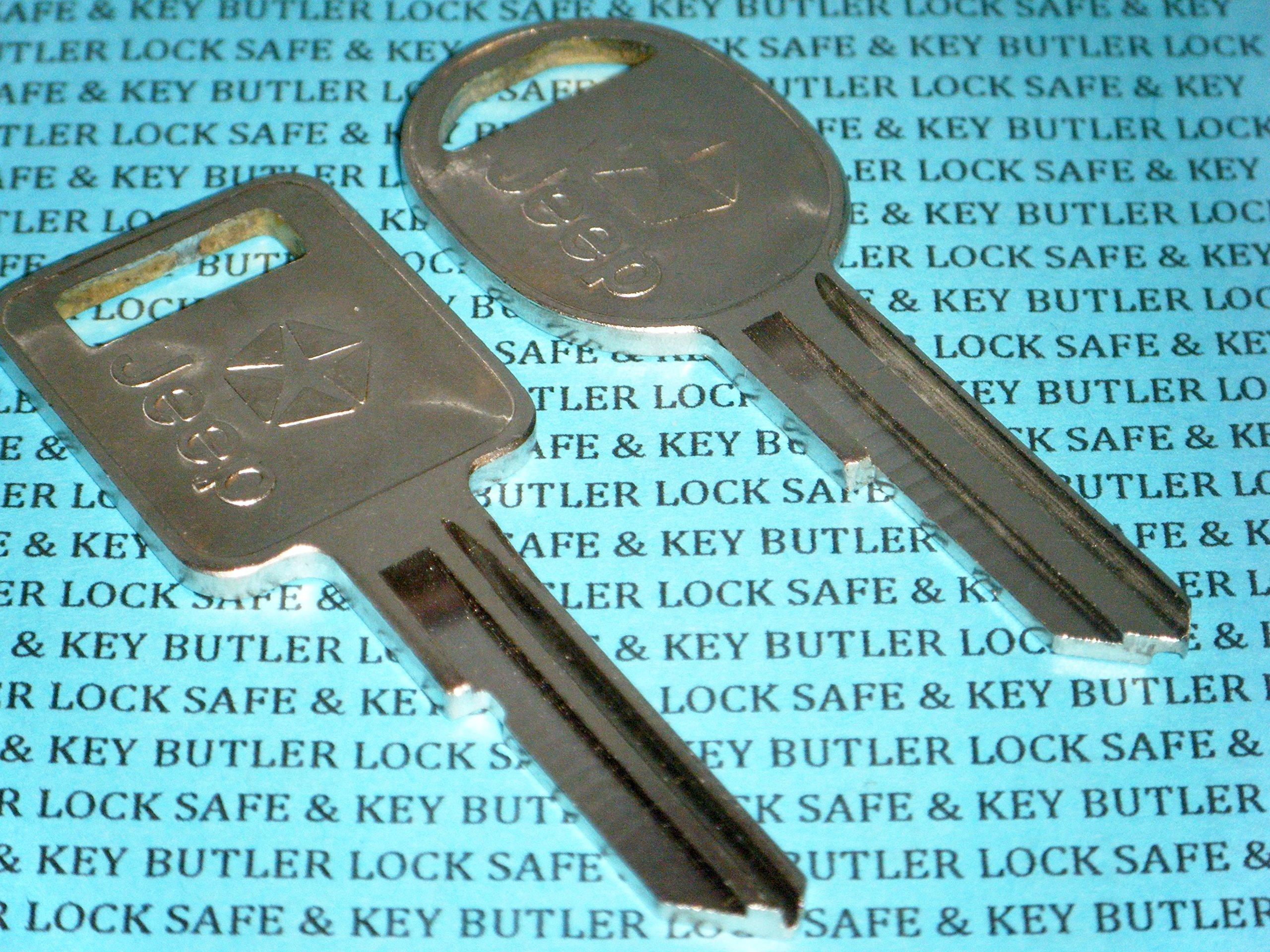 Jeep Key Blank OEM Logo Jeep Keys 1985 - 1990 Ignition Lock & Door Lock Key