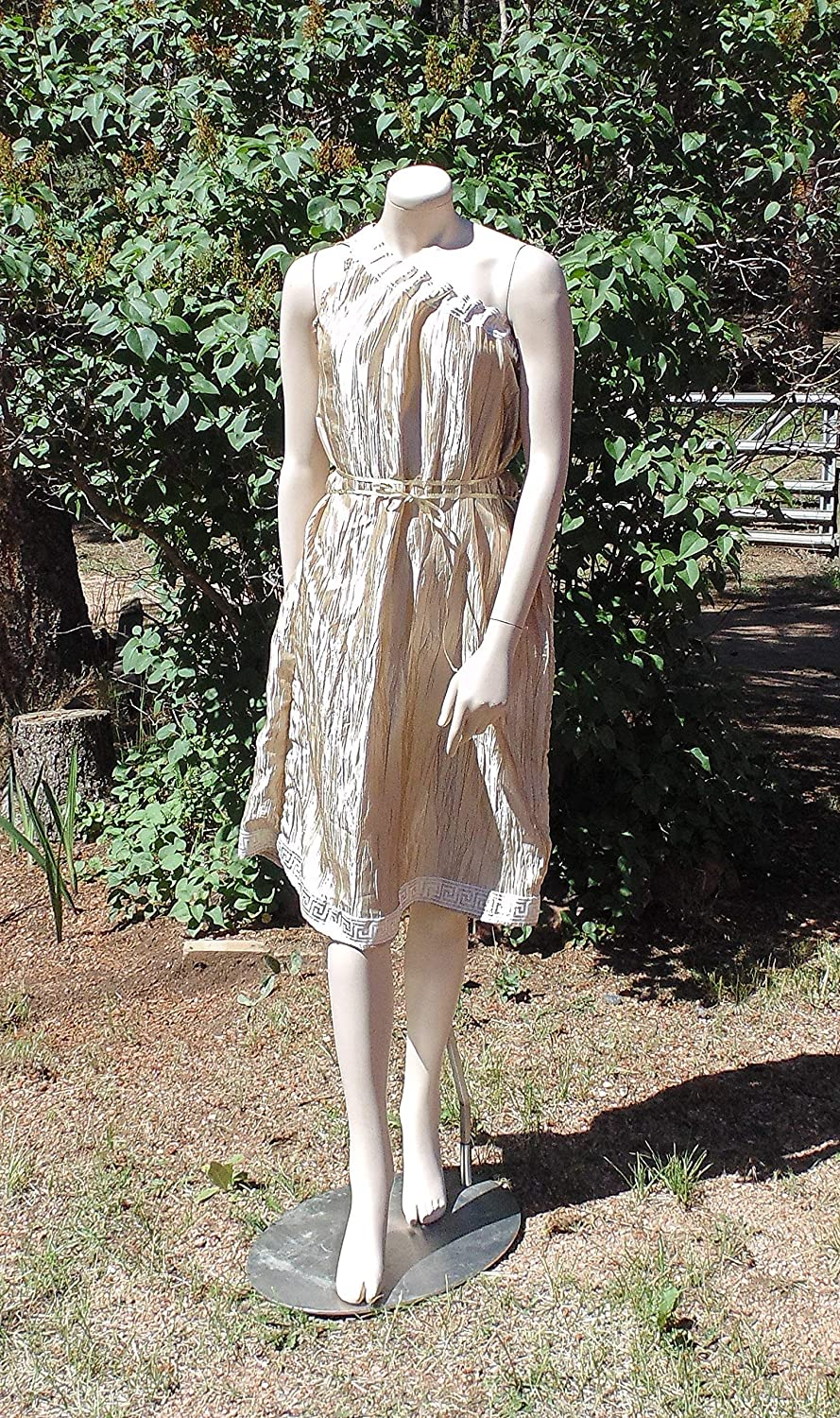 8b67bb9eb0e6 Grecian Goddess is Trimmed in Gold and white greek key Trim and comes with a  gold Ribbon belt. i added a few simple belt loops ...