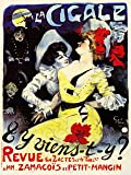 ADVERTISING THEATRE CABARET LA CIGALE PARIS FINE ART PRINT POSTER AFFICHE 30X40 CM 12X16 IN ABB6258B