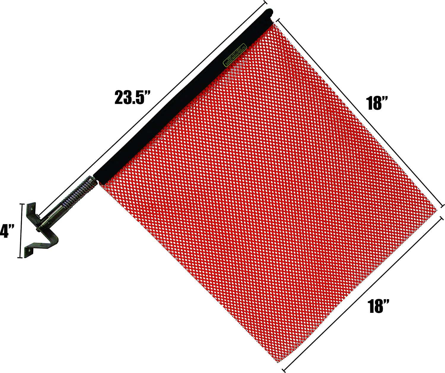 Quickmount Flag and Bracket Red, 2 Pack Warning /& Safety Flag for Truck Trailer and Pilot Cars Made in USA Oversize Warning Products
