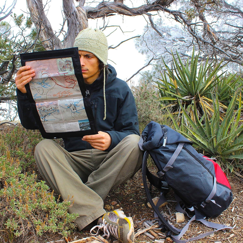 100/% Waterproof Document Dry Bag Holder with Clear Window /& Lanyard Hiking Trekking Ski Snowboard 040 Aqua Quest Trail Map Case