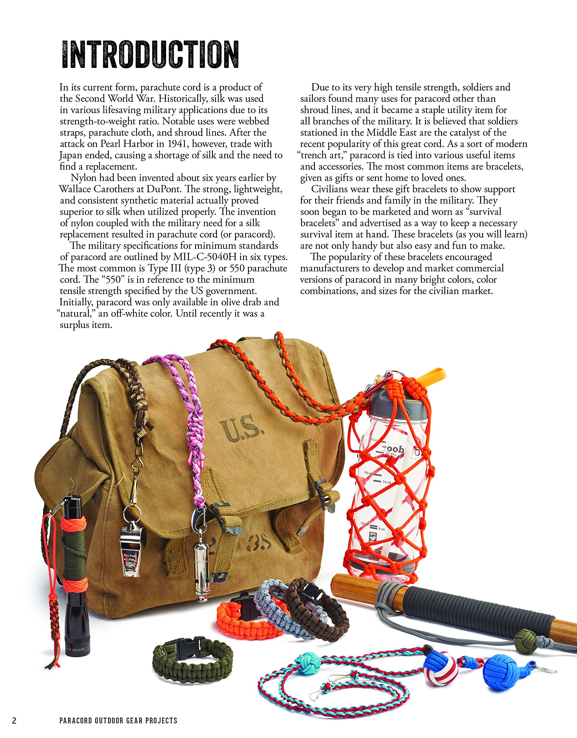 Amazon com: Paracord Outdoor Gear Projects: Simple