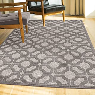 "product image for Orian Rugs Boucle' Huron Silverton Area Rug, 7'9"" x 10'10"", Grey"