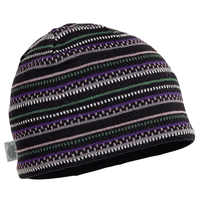 Amazon.com  Turtle Fur Niall Men s Merino Wool Striped Knit Beanie ... 89be3f10cf9