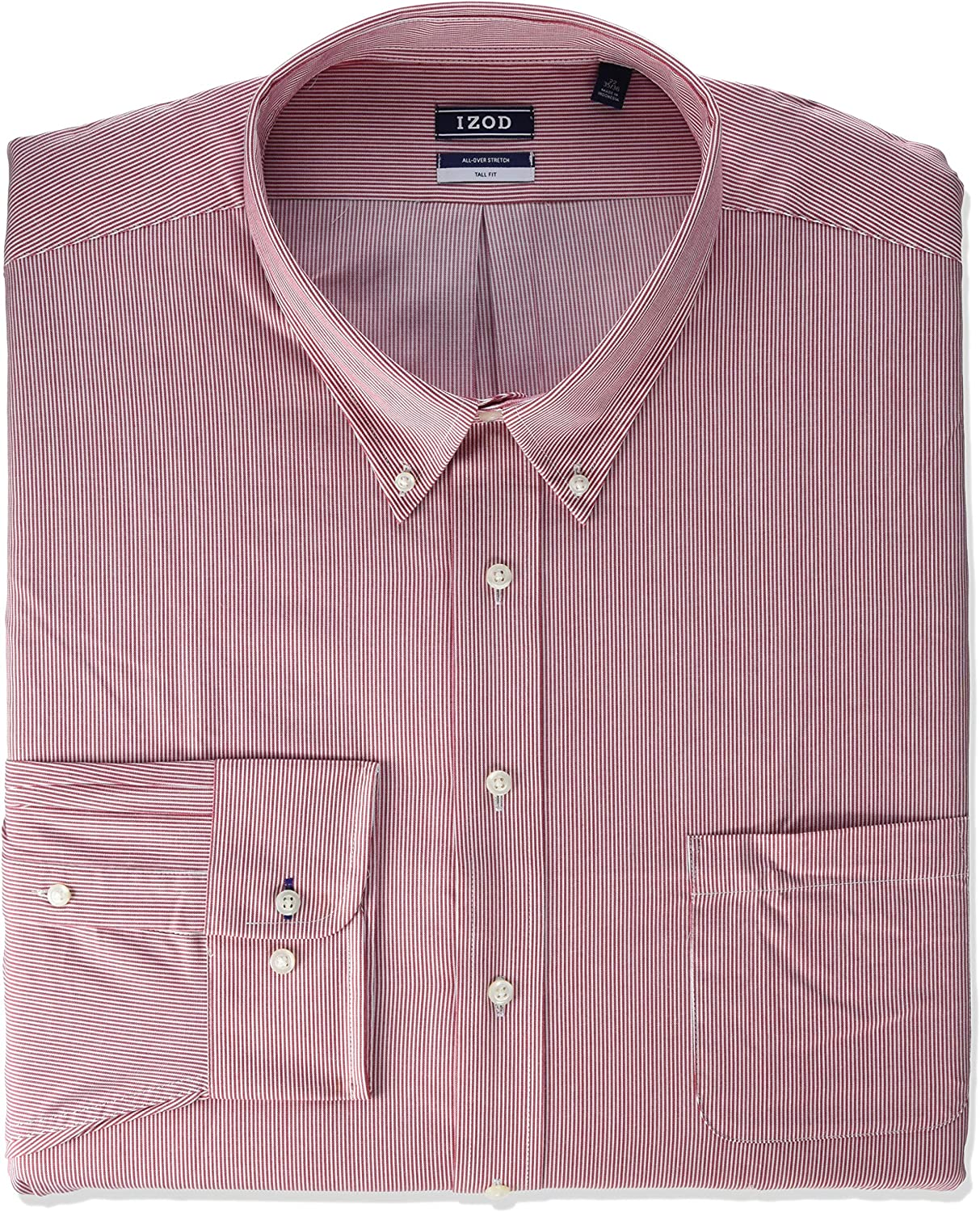 IZOD Men's Size Fit Bombing Daily bargain sale free shipping Dress Shirt Tall and Stretch Big Stripe