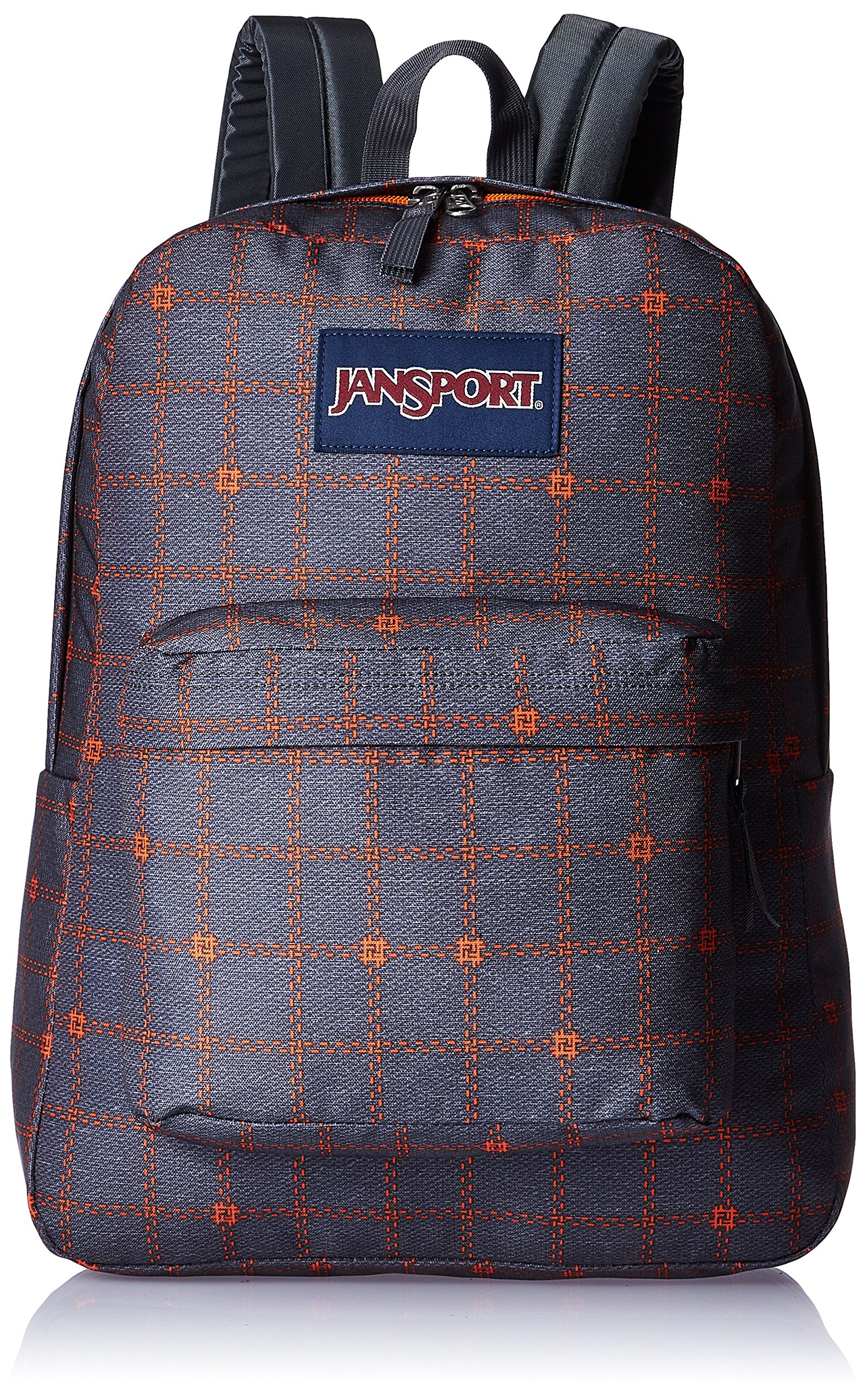 JanSport Mens Superbreak Back Pack Shady Grey Stitch Plaid One Size