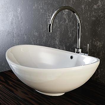 Waschbecken  VILSTEIN© Keramik Waschbecken Aufsatz-Waschbecken Aufsatz ...