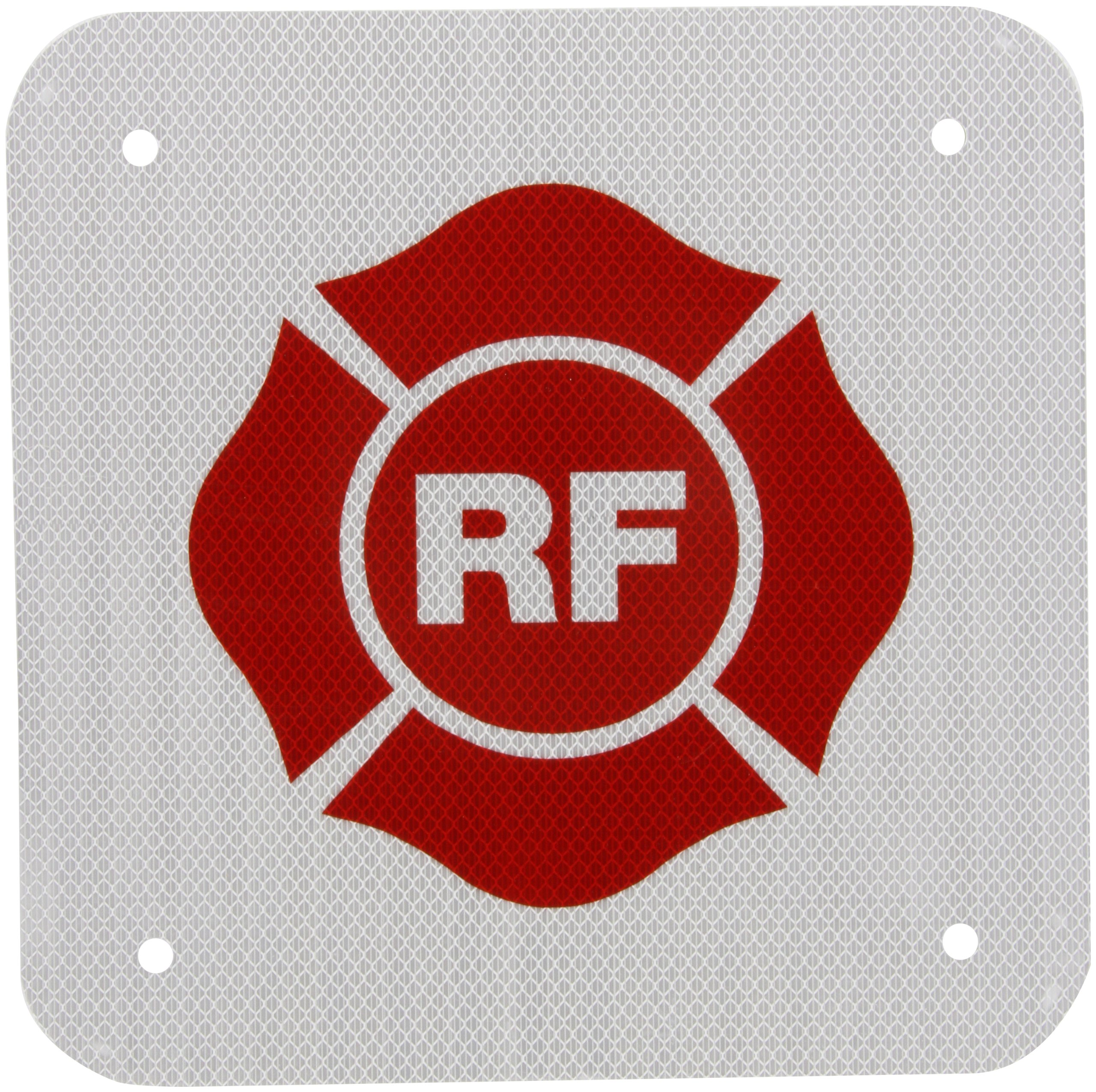 SmartSign 3M High Intensity Grade Reflective Sign, Legend''RF for Roof - Floor Truss Construction'', 12'' square, Red on White