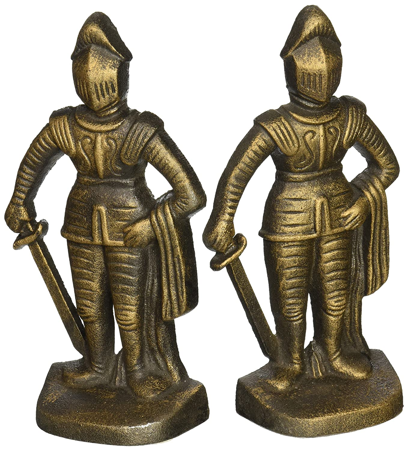 Design Toscano SP14917 Medieval Knight Iron Bookends