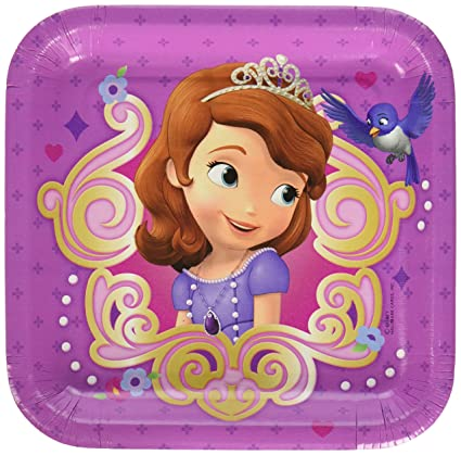 Amazon Com Hallmark Disney Junior Sofia The First Square Dessert