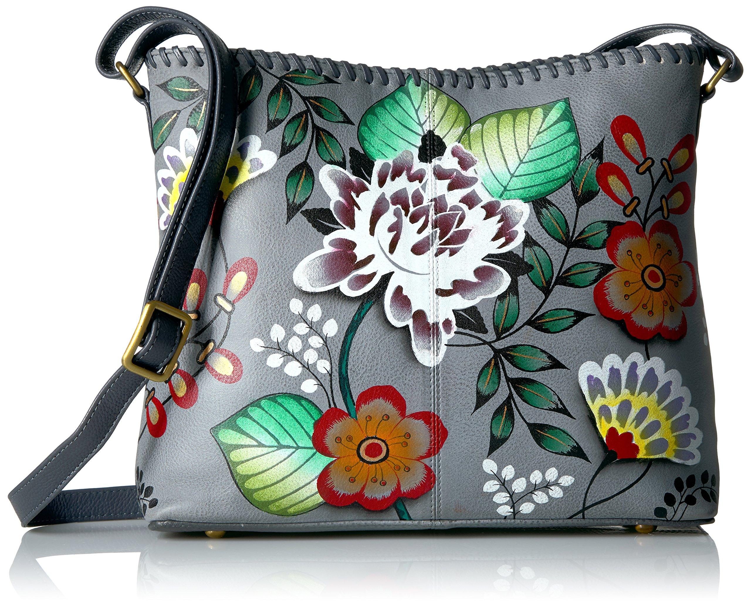 Anna by Anuschka Handpainted Leather Women's Shoulder Bag, Grad-Garden Off Eden